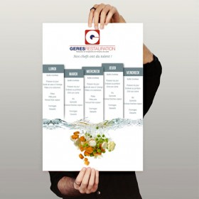 GERES Restauration (Affiche Menu)