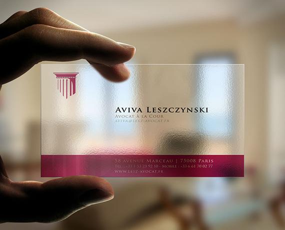 Bekannt Maître Aviva Leszczynski (identité visuelle – carte de visite  MD68