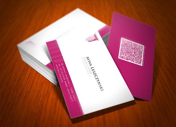 Maitre Aviva Leszczynski Identite Visuelle Carte De Visite Cabinet D Avocat Paris VIII