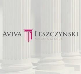 Maître Aviva Leszczynski (identité visuelle Logotype) – Cabinet d'avocat Paris VIII